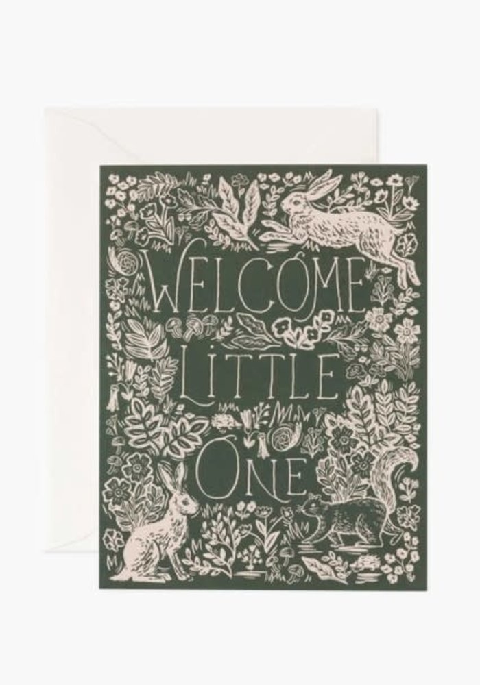 """""""Welcome Little One"""" Enchanted Baby Card"""