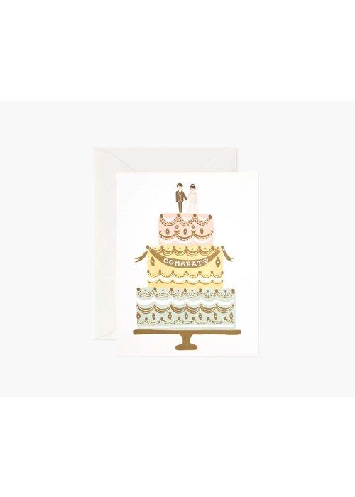 "Rifle Paper ""Congrats!"" Wedding Cake Card"