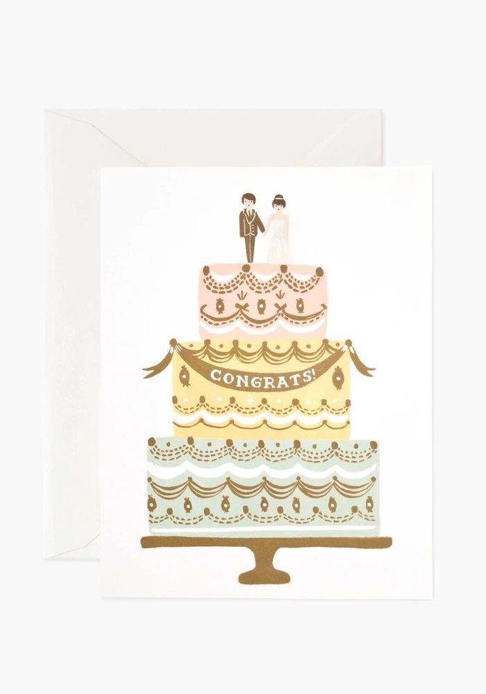 """""""Congrats!"""" Wedding Cake Card"""