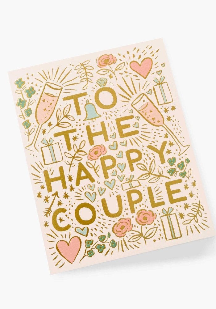 """""""To The Happy Couple"""" Gold Foil Card"""
