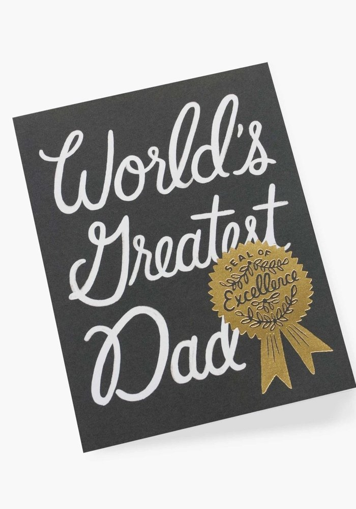 """""""World's Greatest Dad"""" Gold Seal of Excellence Card"""