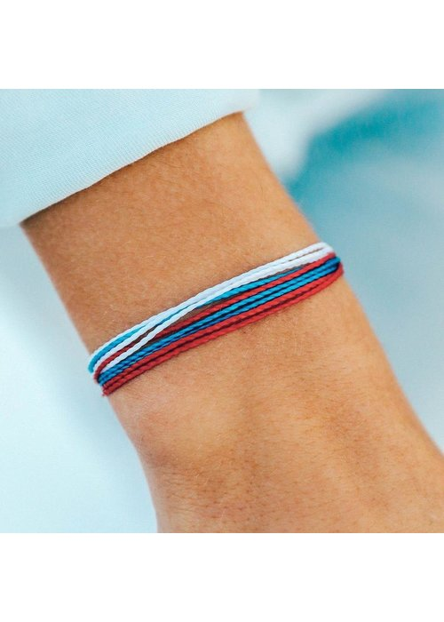 Pura Vida Red, White, & Blue Original Bracelet