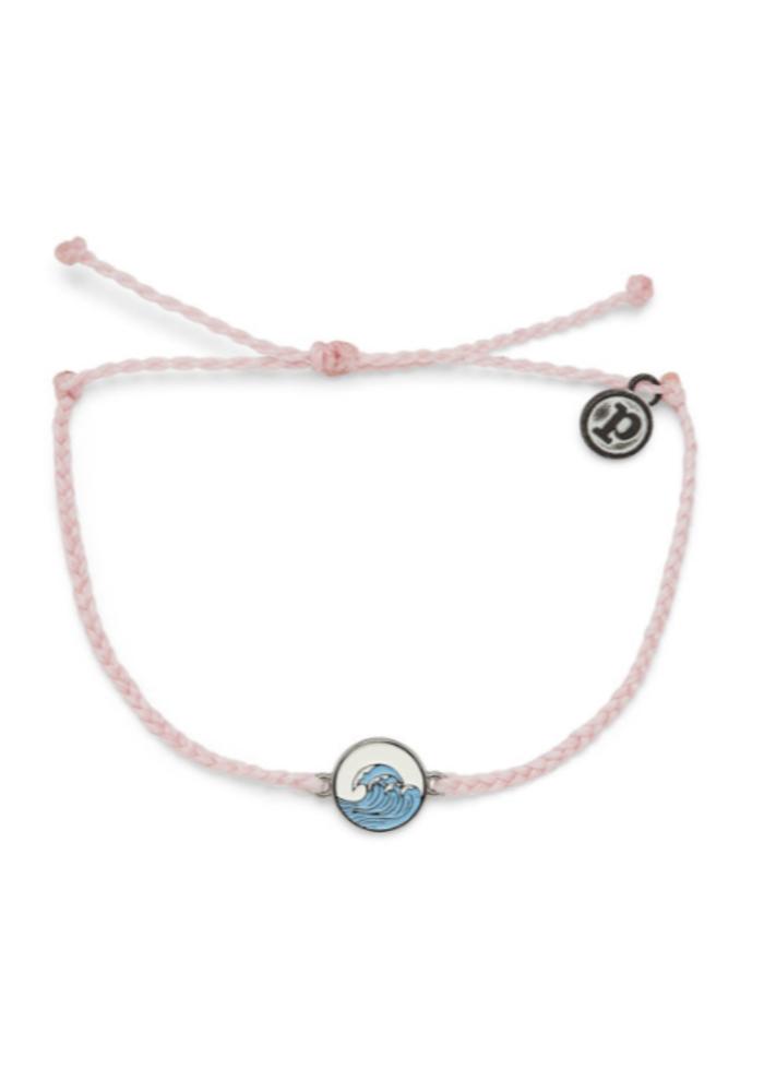 "Baby Pink ""Make Waves"" Charm Bracelet"