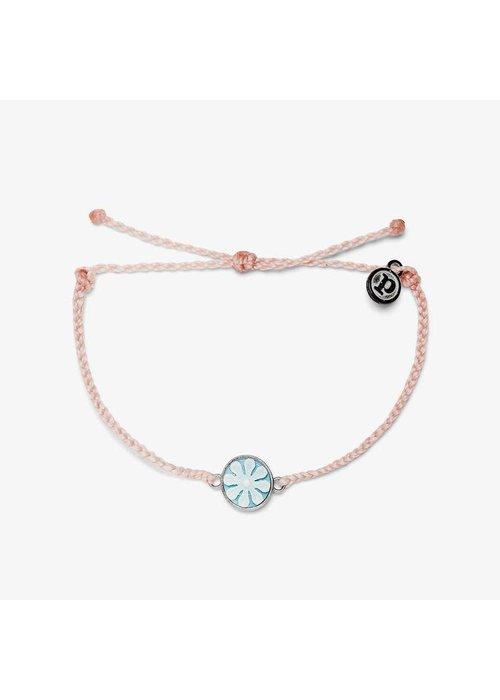 Pura Vida Baby Pink Silver Cameo Charm Bracelet