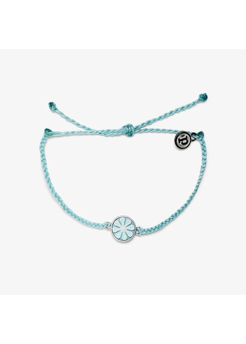 Pura Vida Ice Blue Silver Cameo Charm Bracelet