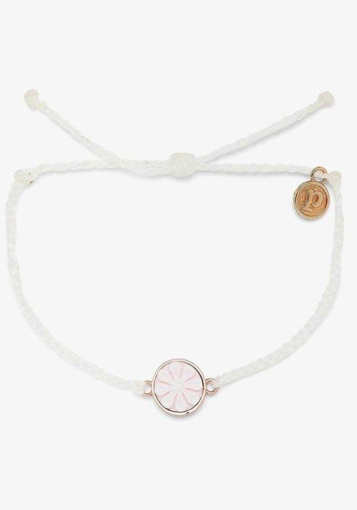 White Rose Gold Cameo Charm Bracelet