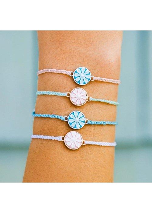 Pura Vida White Rose Gold Cameo Charm Bracelet
