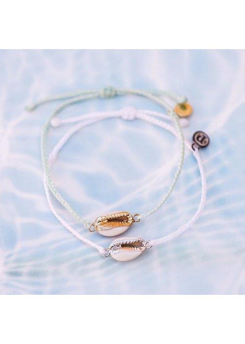 Pura Vida Costa Cowrie Silver Bracelet