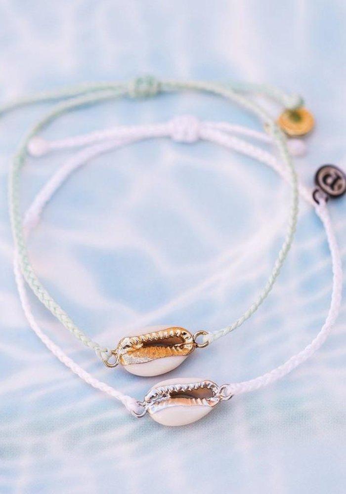 Costa Cowrie Silver Bracelet