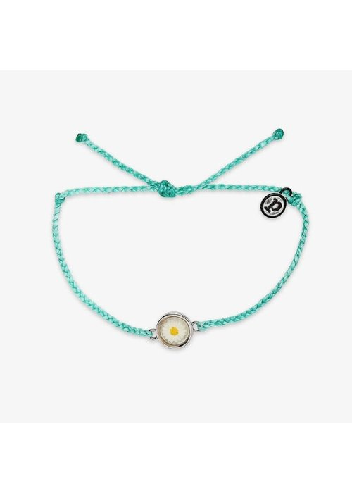 "Pura Vida Seafoam ""Meadow"" Silver Charm Bracelet"