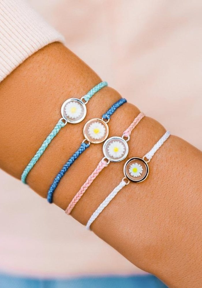 """Seafoam """"Meadow"""" Silver Charm Bracelet"""