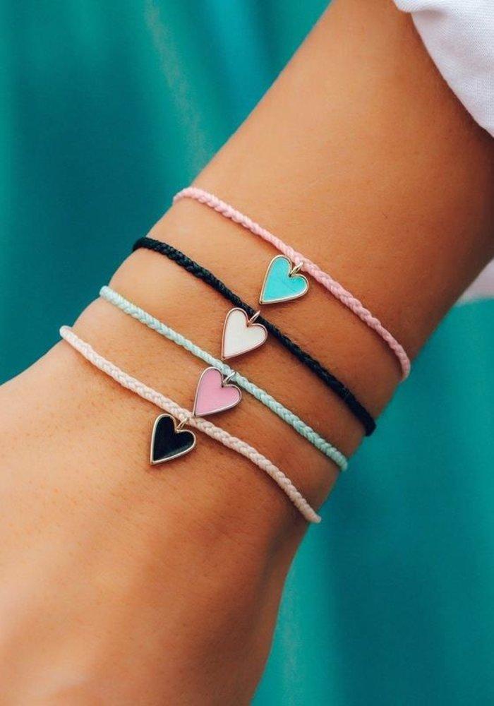 Baby Pink Petite Heart Charm Bracelet