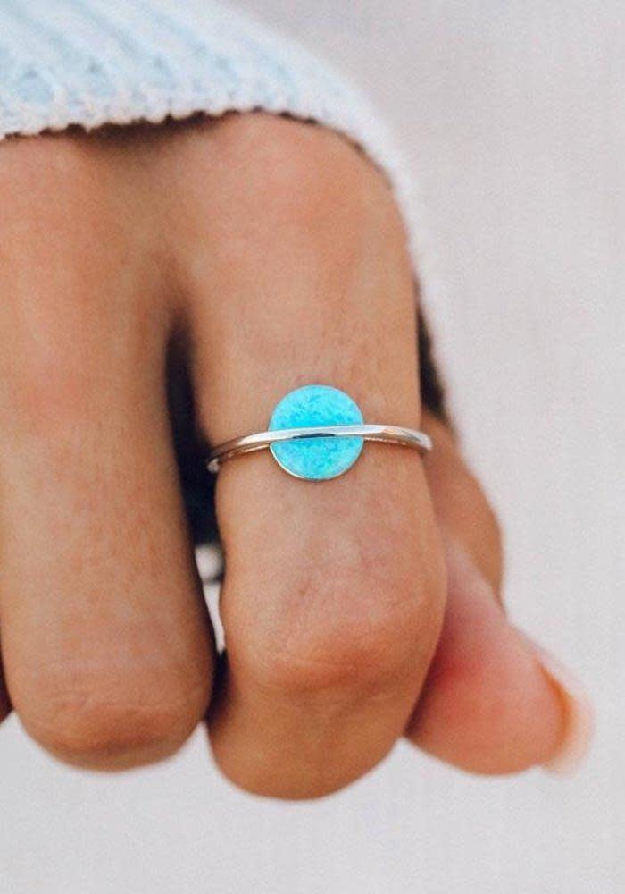 Opal Saturn Ring
