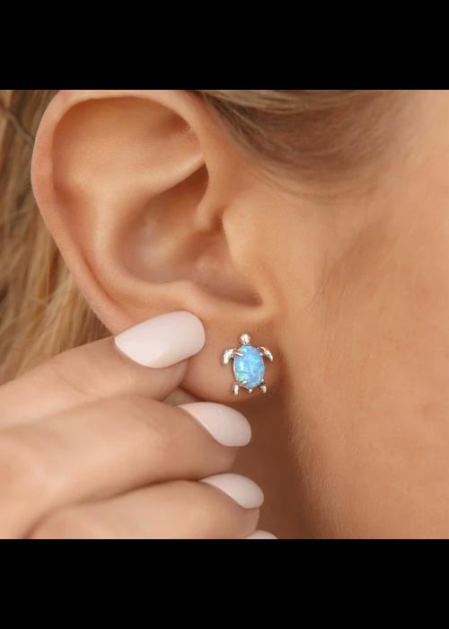 Pura Vida Opal Sea Turtle Earrings