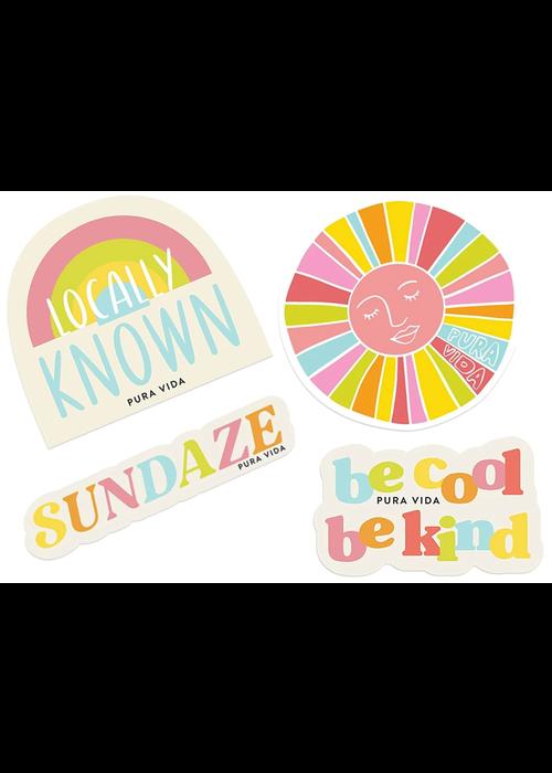 "Pura Vida Pura Vida ""Brightside"" Sticker Set"