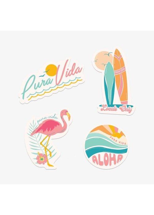 "Pura Vida Pura Vida ""Glow"" Sticker Set"