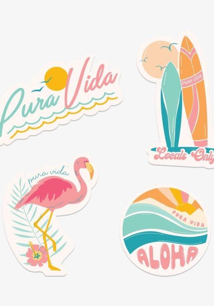 "Pura Vida ""Glow"" Sticker Set"