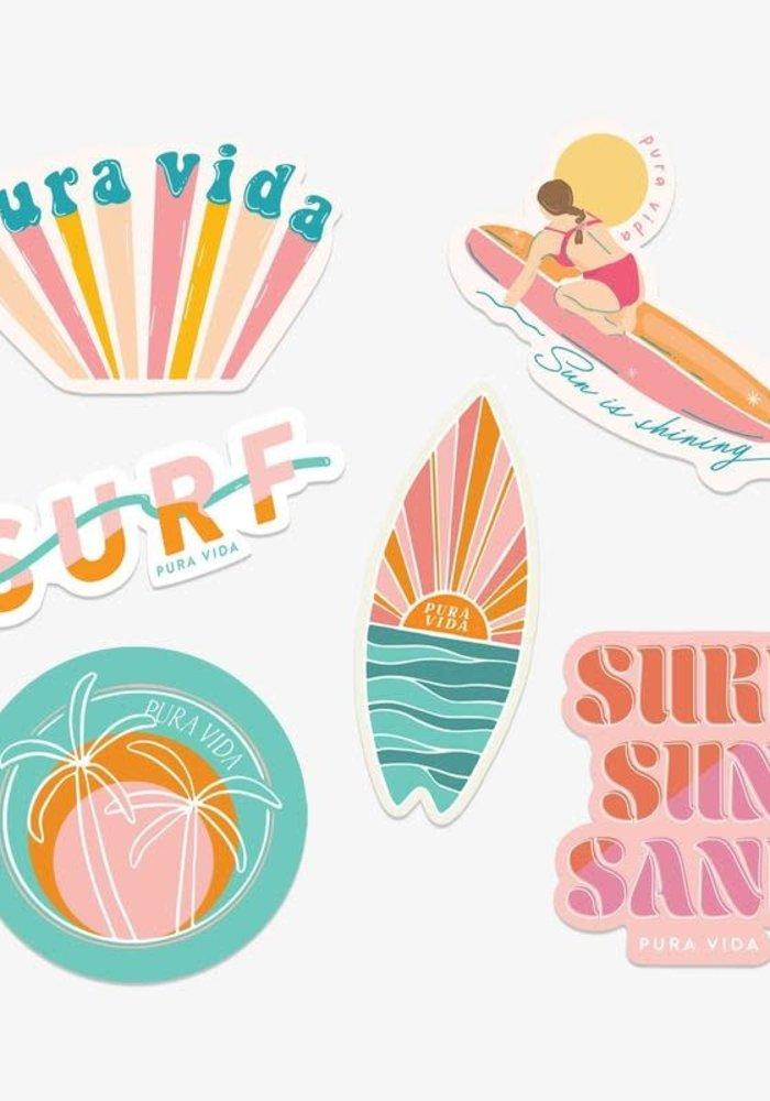 "Pura Vida ""Glow Girl"" Sticker Set"