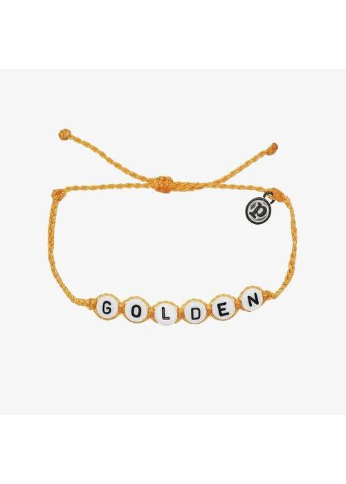 "Pura Vida ""Golden"" Word Bracelet"