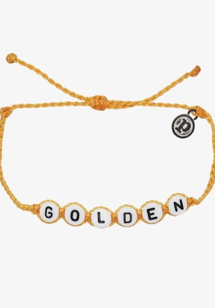 """""""Golden"""" Word Bracelet"""
