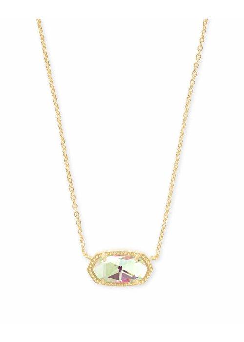 Kendra Scott Elisa Necklace Gold Metal Dichroic Glass