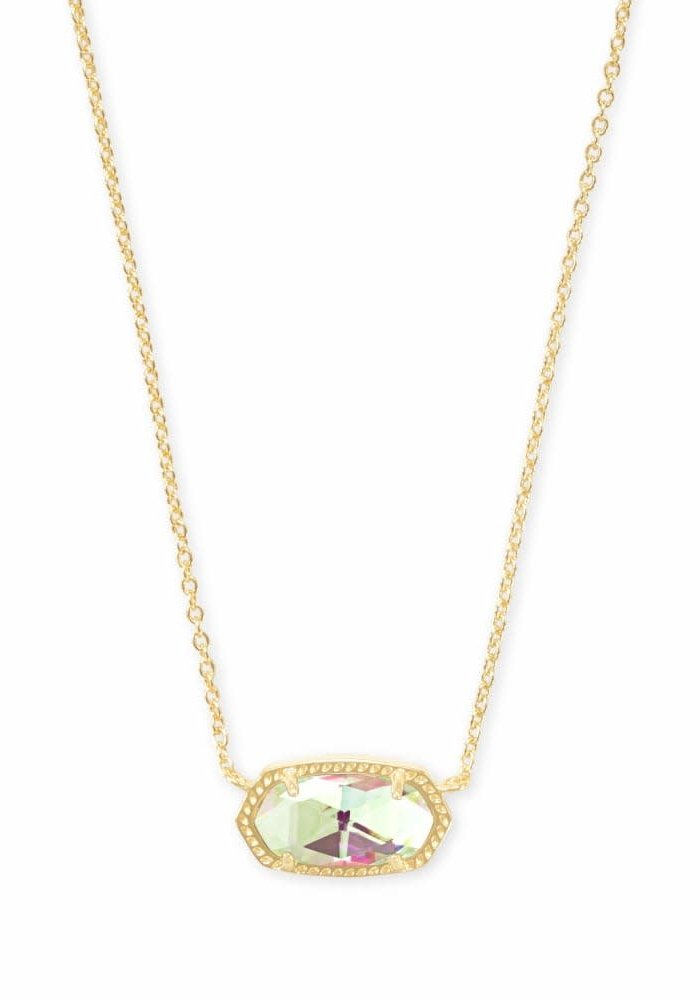 Elisa Necklace Gold Metal Dichroic Glass