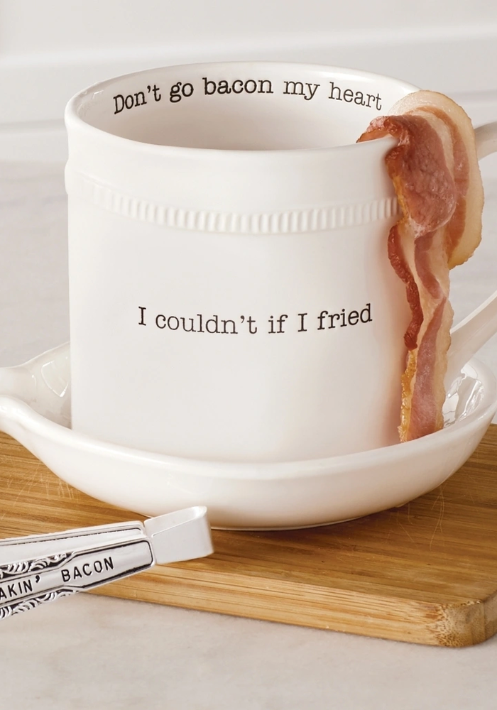 Couldn't If I Fried/Don't Go Bacon My Heart Bacon Cooker Set