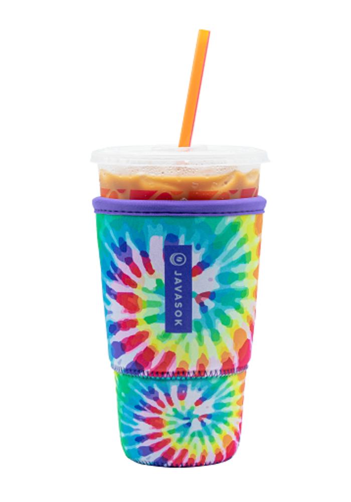 """Tie Dye Rainbow"" Iced Coffee Java Sok"