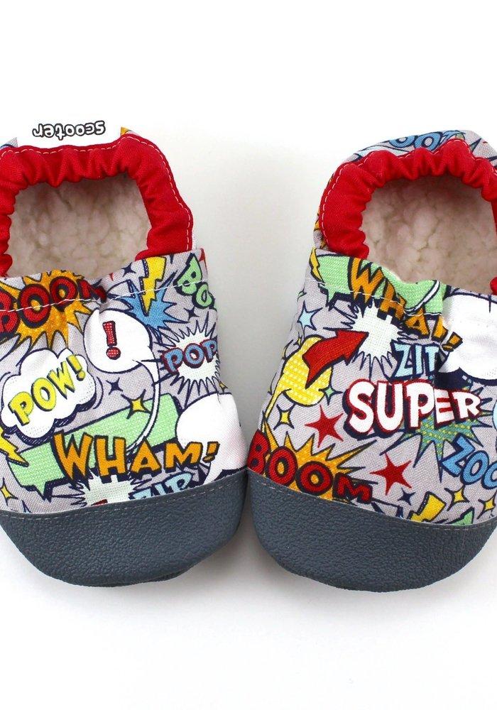 Superhero Rubber Sole Booties