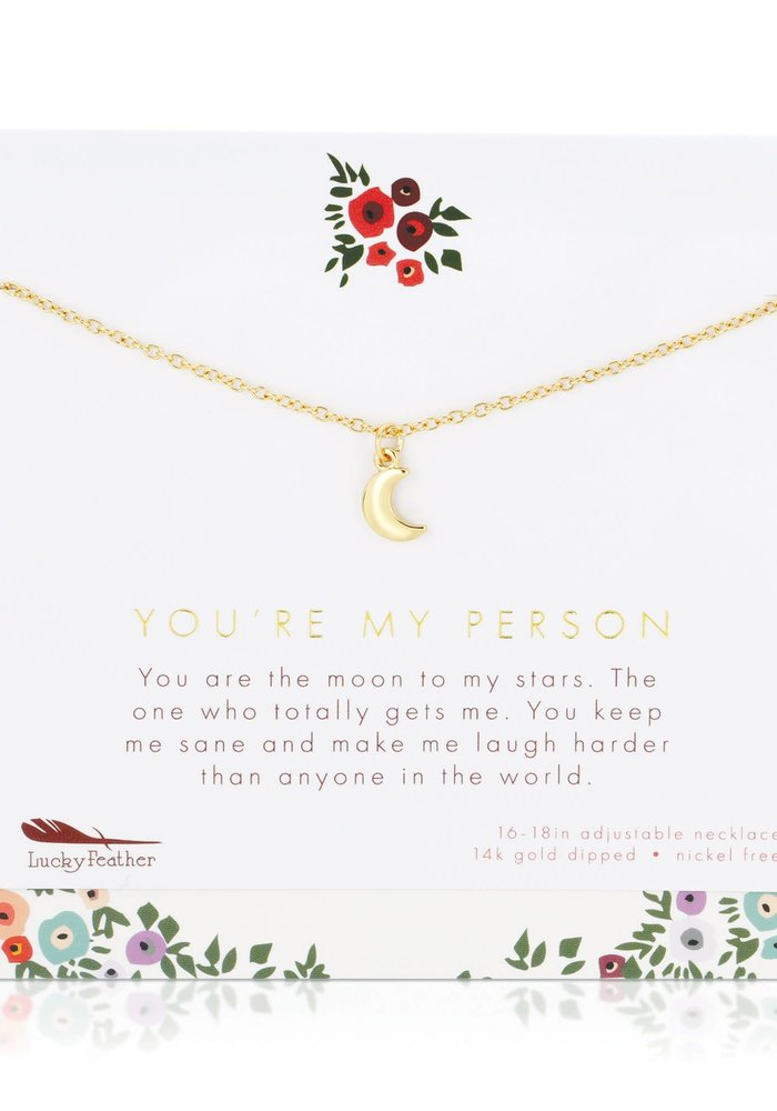 """""""You're My Person"""" Gift Necklace"""