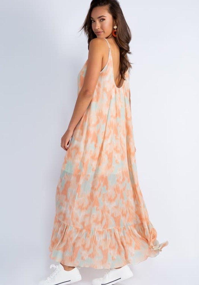 Tie Dye Crinkle Maxi Dress