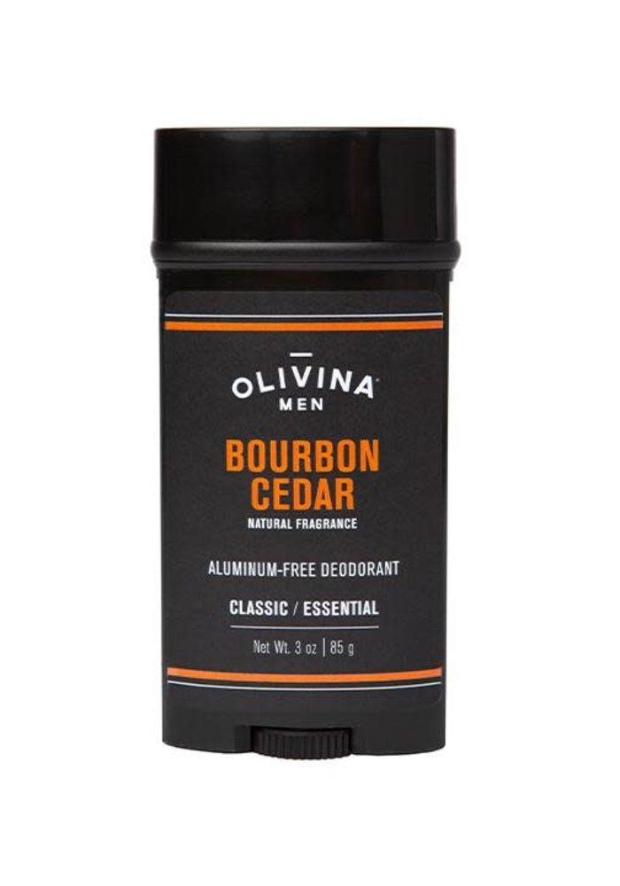 Men's Bourbon Cedar Aluminum-Free Deodorant