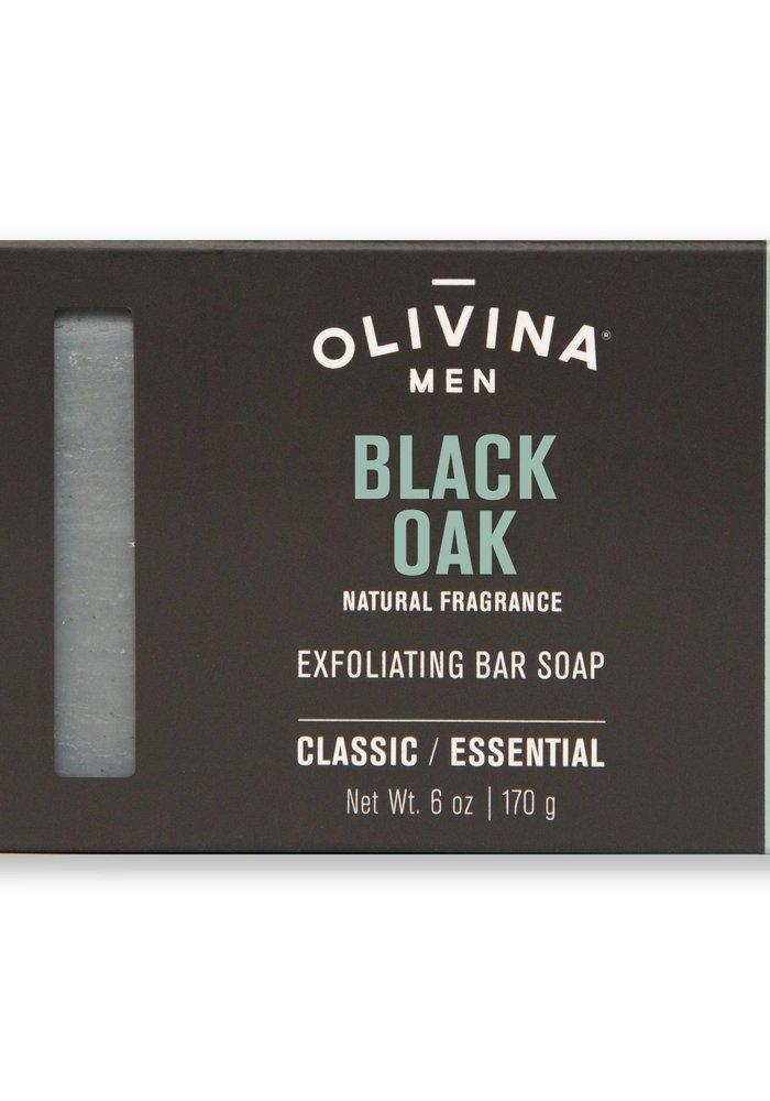 Men's Black Oak Natural Exfoliating Bar Soap