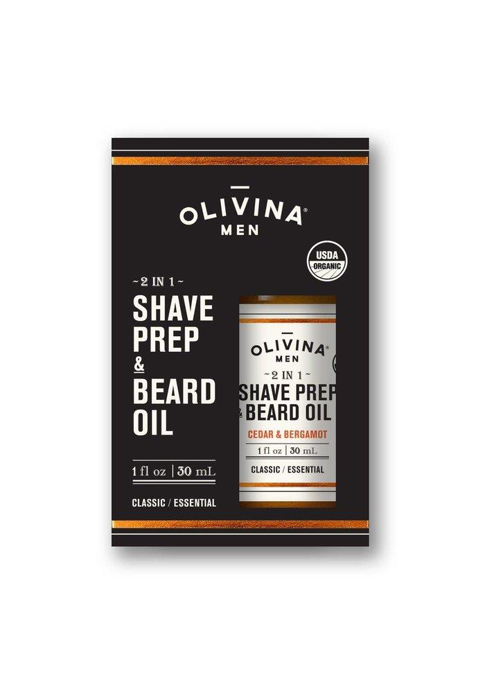 Men's 2-in-1 Shave Prep & Beard Oil