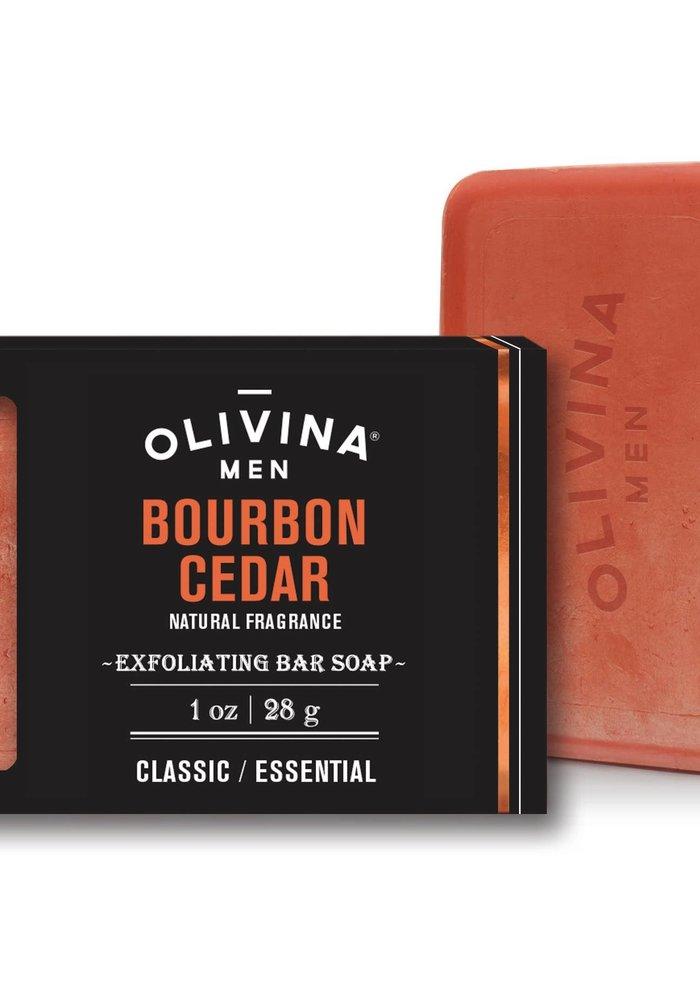 Men's Bourbon Cedar Natural Exfoliating Bar Soap