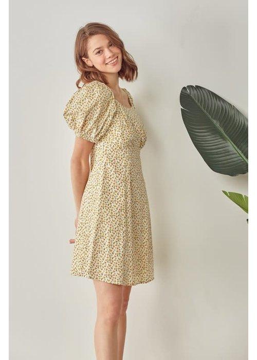 Daffodil Puff Sleeve Dress