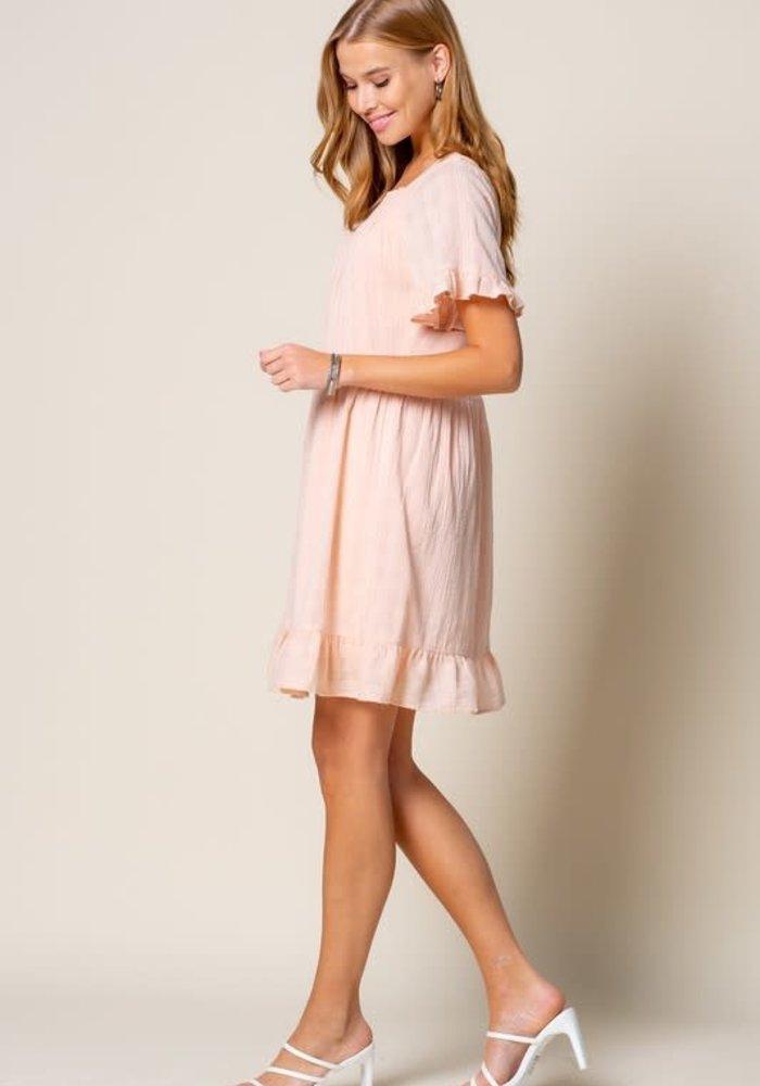 Blush Ruffled Tunic Dress