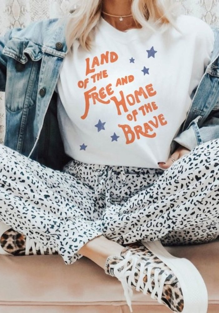 """""""Land of the Free"""" Vintage Graphic Tee"""