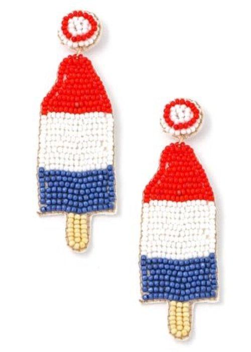 Bomb Pop Beaded Earrings