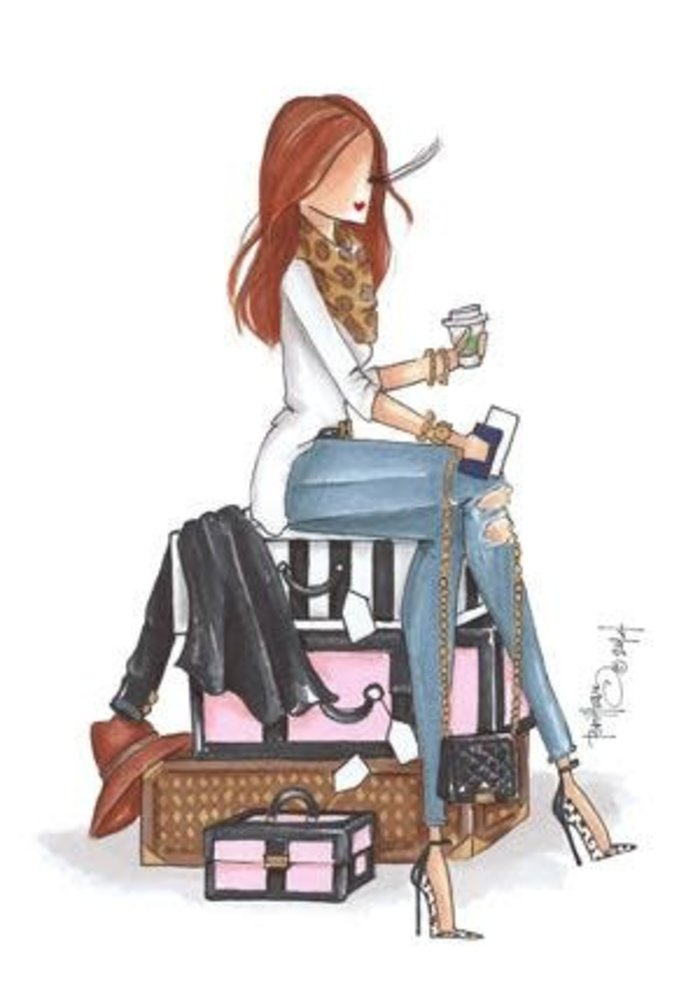 """Departures"" Brittany Fuson™ Luggage Tag"