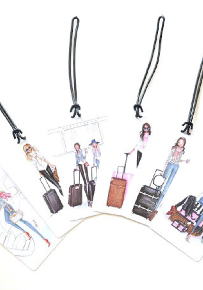 """""""Miss to Mrs."""" Brunette Brittany Fuson™ Luggage Tag"""