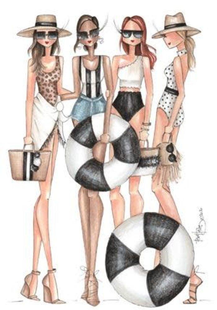 """""""Tulum"""" Brittany Fuson™ Luggage Tag"""