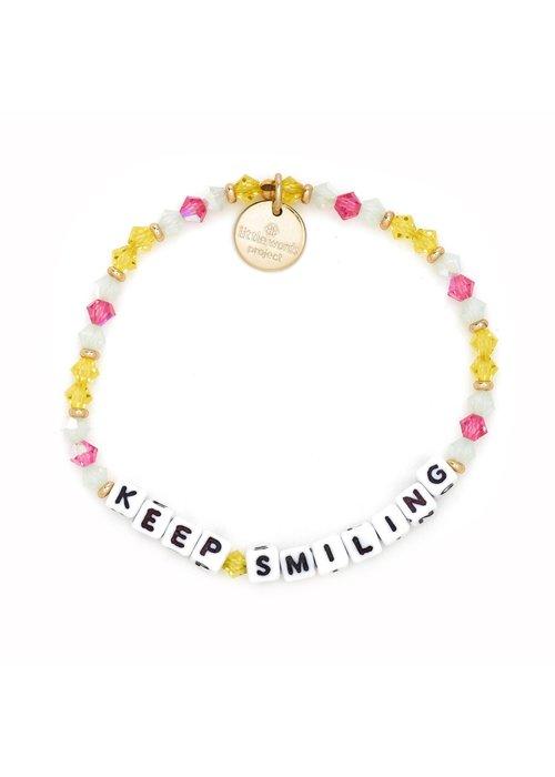 "Little Words Project ""Keep Smiling"" Bracelet"