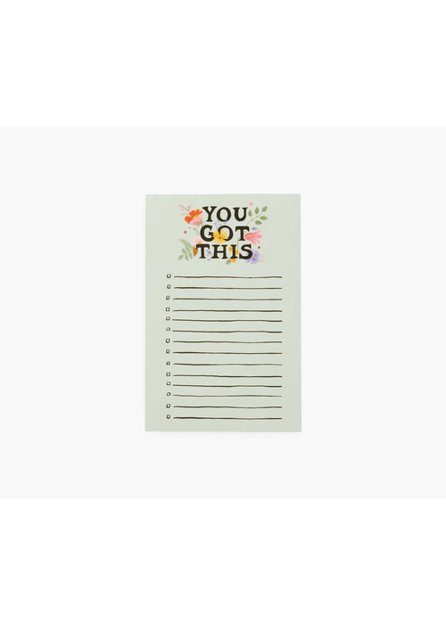 """Rifle Paper """"You Got This"""" Checklist Notepad"""