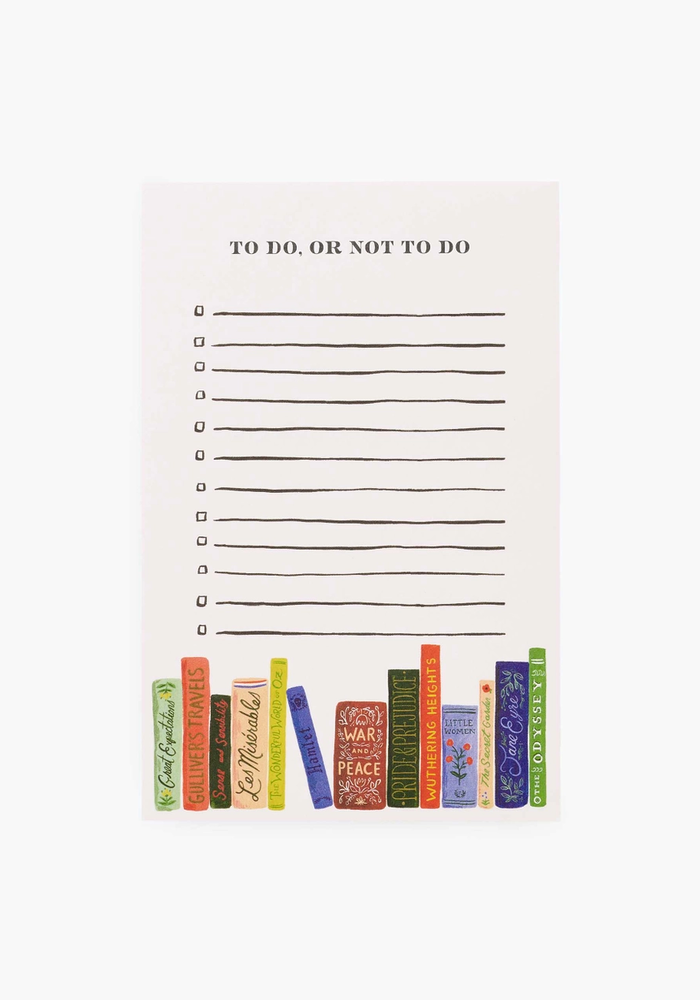 """""""To Do, Not To Do"""" Checklist Notepad"""