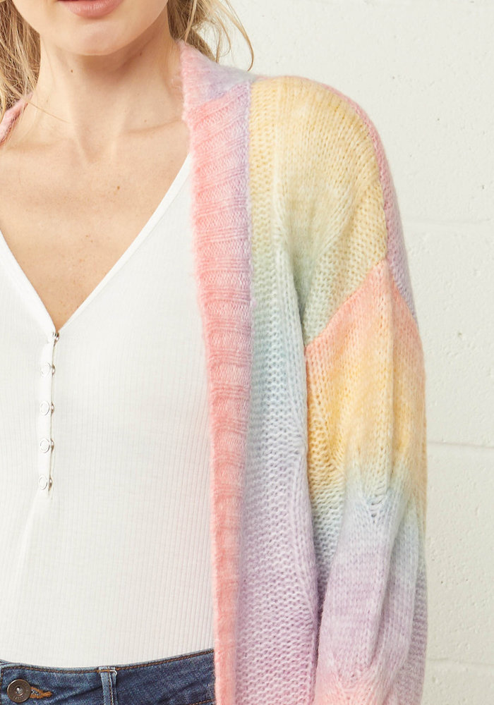 Pastel Cable Knit Cardigan