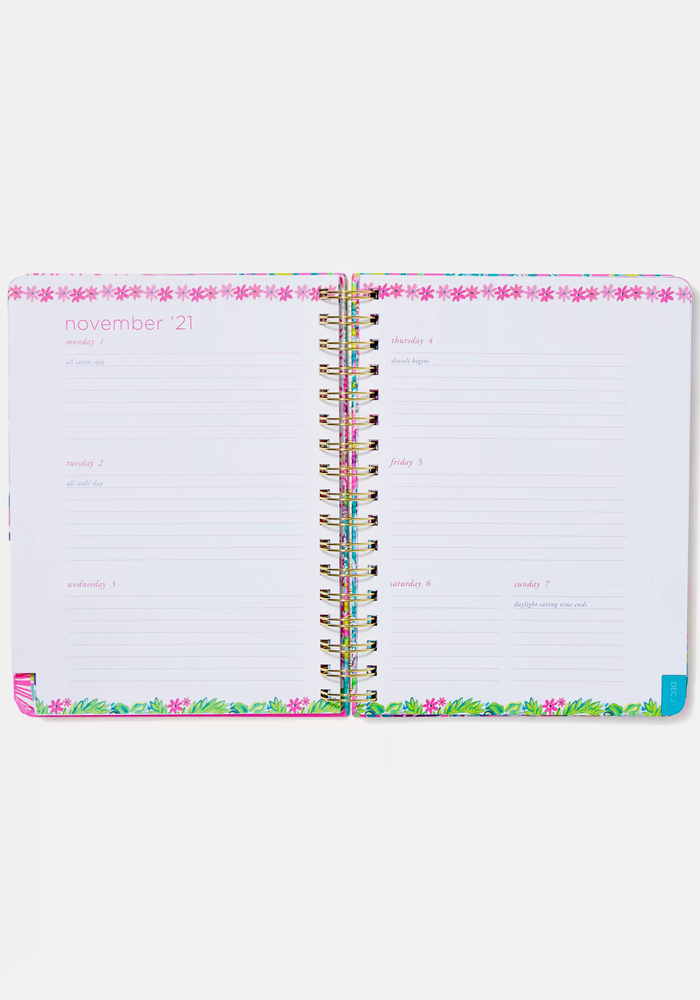 """""""Party All the Tide"""" Lilly Pulitzer Large 17-Month Agenda"""