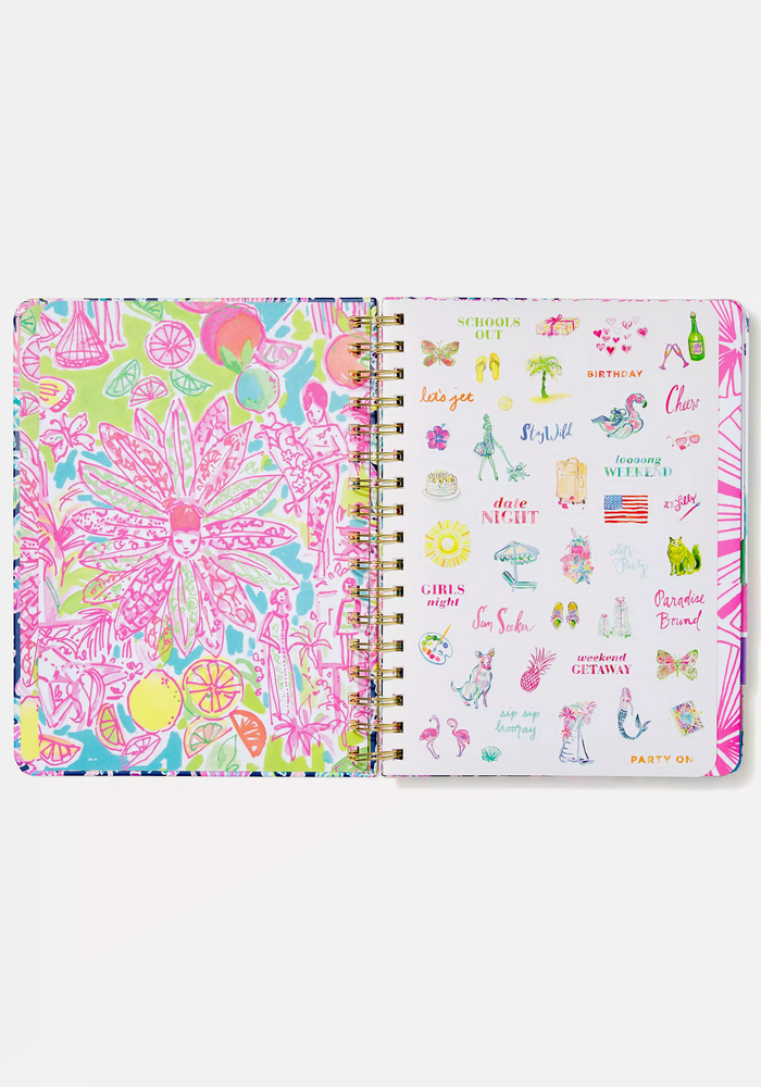 """""""Seen & Herd"""" Lilly Pulitzer Large 17-Month Agenda"""