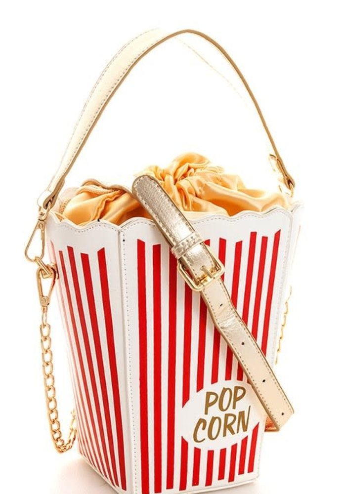 """Movie Night"" Popcorn Crossbody Purse"
