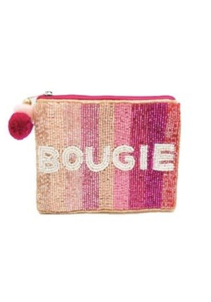"""""""Bougie"""" Beaded Pom Pom Pouch"""